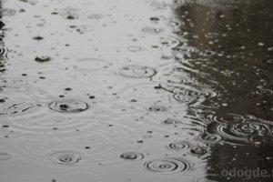 Разное начало дождя