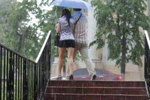 Любовный этюд «Под дождем»