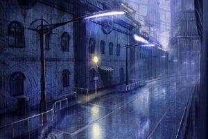 Странный синий дождь