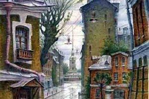 Дождь по крышам