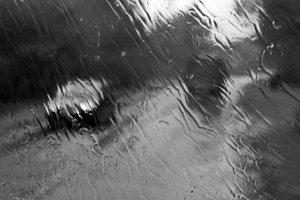 Осенний косой дождь