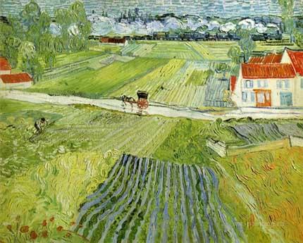 Винсент Ван Гог картина «Дорога в Овере после дождя»
