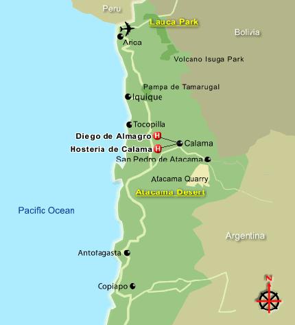 карта Атакама