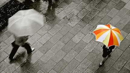 настроение в дождь