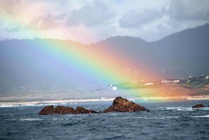 радуга и дожь