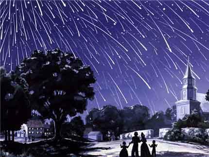дождь из падающих звезд