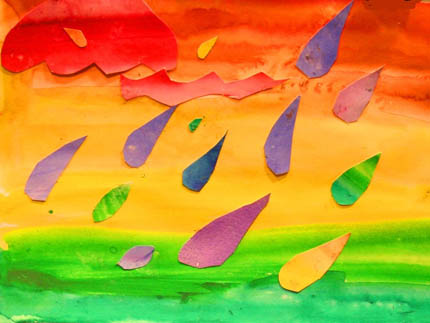 разноцветный дождь
