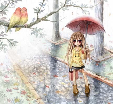 она превращалась в дождь