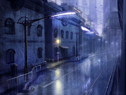 синий дождь