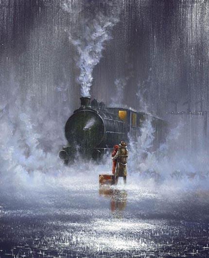 дождь картина Роуланд