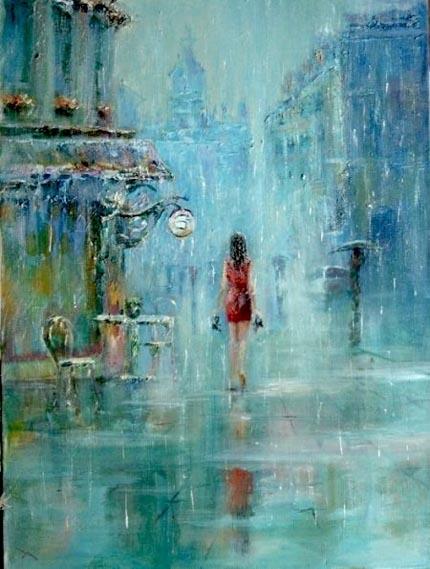 пошел дождь