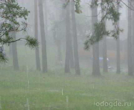 отдых на турбазе в дождь