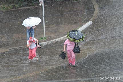 когда дождь не кончался