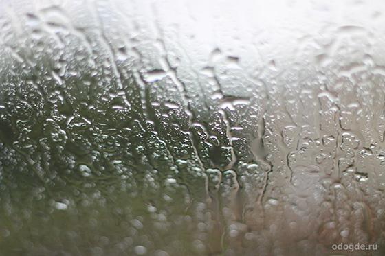 струи дождя на стекле