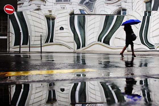 дождь на фото Кристофера Жакро