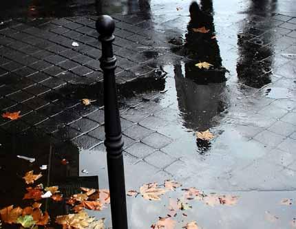 дождь и его следы