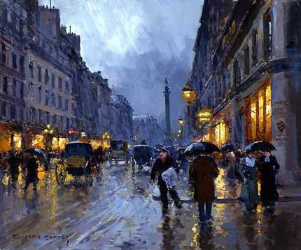 дождь на картинах