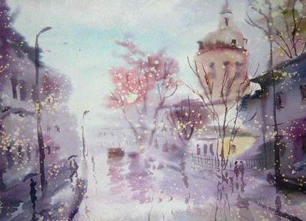 дождь в творчестве Евгения Гавлина