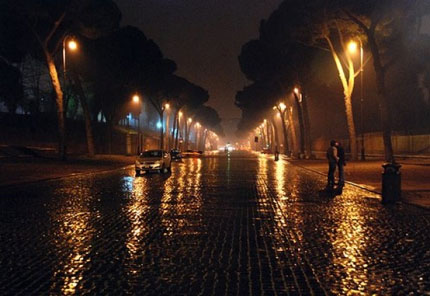 дождь ночью