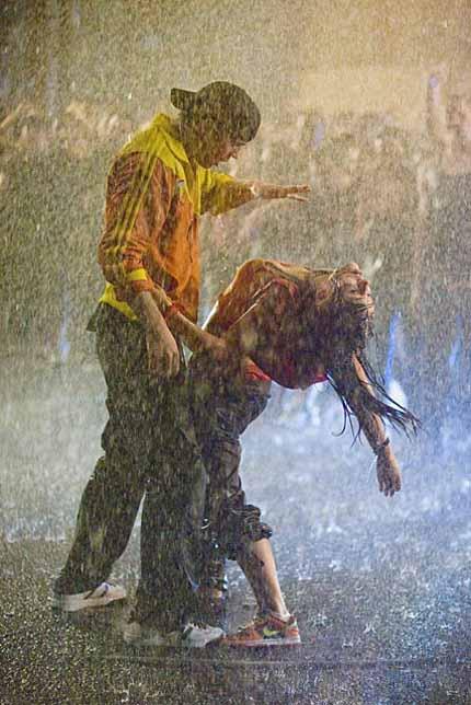 дождь и танец