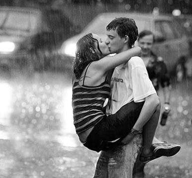 двое под дождём
