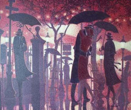 падающий дождь