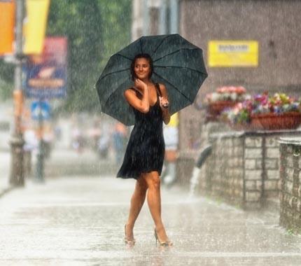 тёплый дождь