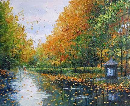 дождь картина Гавлин
