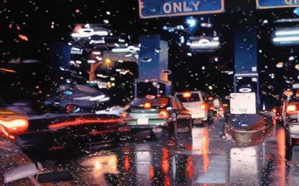 дождь картина Tilker