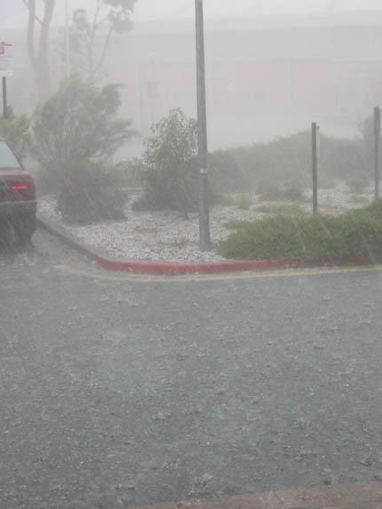 Очень сильный дождь